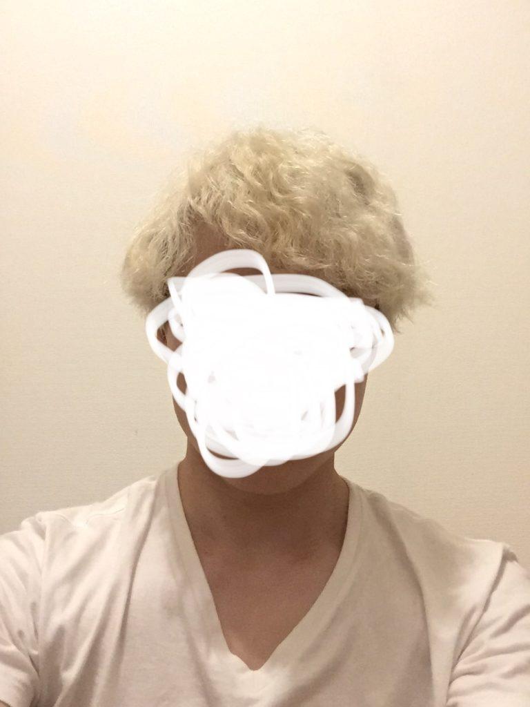 金髪 くせ毛丸